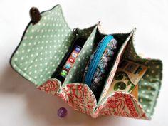 Clutch wallet / Triple pockets purse / Fold wallet / by DooDesign