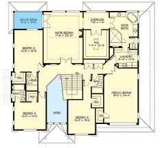 Plan 23682JD: Stunning Prairie Modern House Plan with 3-Car Tandem Garage