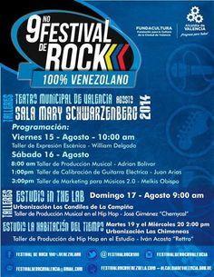 Cresta Metálica Producciones » 9no Festival de Rock 100% Venezolano ofrece programación de talleres gratuitos