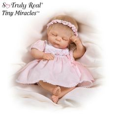 Cheryl Hill Tiny Miracles Kathie Breast Cancer Charity Baby Doll: So Truly Real by Ashton Drake « Game Searches