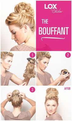 Quick and easy holiday hair ideas the half and half using lox quick and easy holiday hair ideas the bouffant using lox studio hair extensions 2999 pmusecretfo Images