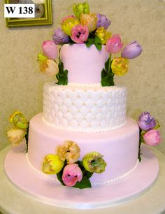 Carlo's Bakery - Floral Wedding Cake Designs ahhhhhhhhhhhh❣❣❣❣ without the flowers tho. Extravagant Wedding Cakes, Big Wedding Cakes, Floral Wedding Cakes, Floral Cake, Wedding Cake Designs, Take The Cake, Love Cake, Cupcakes, Cupcake Cakes