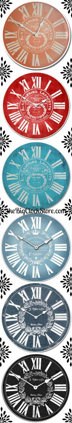 These Clocks Have A Classic Formal Style But Come In Funky Modern Colors Big ClocksLarge Wall