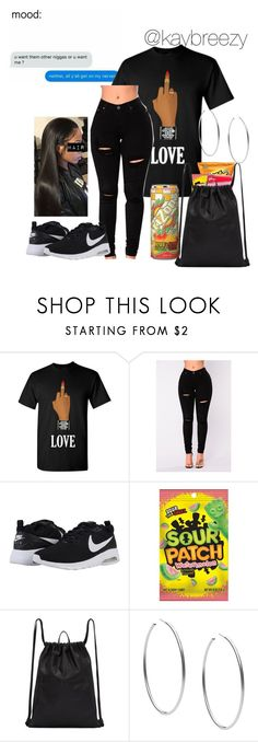 """""""No Love """" by kaybreezy ❤ liked on Polyvore featuring NIKE, PB 0110 and Michael Kors"""