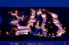 BenEoin skiing at night ,Cape Breton. Bras d'Or Lakes Inn is about 45 minutes from skiing. For reservations www.brasdorlakesinn.com