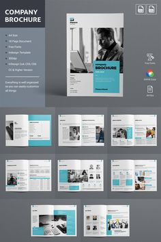 This Brochure Template can be used for any business purpose or others Projects. All fonts, shape & other elements are very easy to customiz. Company Brochure Design, Company Profile Design, Graphic Design Brochure, Corporate Brochure Design, Booklet Design, Creative Brochure, Corporate Identity, Identity Branding, Business Brochure
