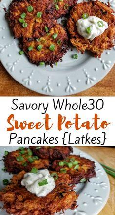 Whole30 Sweet Potato, Sweet Potato Fritters, Sweet Potato Rosti, Savory Sweet Potato Recipes, Sweet Potato Hash Browns, Whole 30 Breakfast, Sweet Potato Breakfast, Sweet Potato Dinner, Whole 30 Dessert