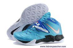 Nouveau Bleu Orange Nike Lebron Zoom Soldier VII 599264-403 Galaxy Nba 93c396d31362