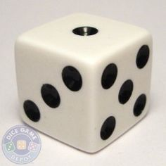 16mm Opaque Dice - White
