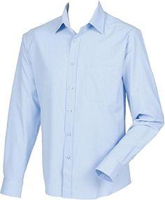 Henbury Men/'s Antibacterial Long Sleeve Business Workwear Breathable Smart Shirt