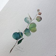 - 스노우베리🌸🎥 - ❗️Copyright ⓒ veryhyun. all rights reserved. Watercolor Plants, Watercolor Cards, Floral Watercolor, Watercolour Painting, Painting Inspiration, Art Inspo, Illustration Art, Illustrations, Art Sketchbook