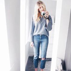 Stripes & ripped jeans #AsSeenOnMe