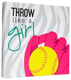 Softball Signature Canvas Keepsake - girls sign and then hang in room!
