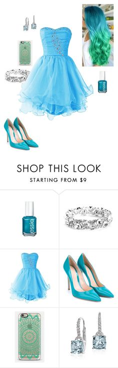 """Ombre Hair #2"" by briony-jae ❤ liked on Polyvore featuring beauty, Essie, Gianvito Rossi and Blue Nile"