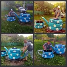 Brilliant Ways To Reuse And Recycle Old Tires Garden Crafts, Garden Projects, Reuse Old Tires, Recycled Tires, Reuse Recycle, Recycled Crafts, Tire Craft, Painted Tires, Tire Garden
