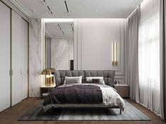 Here is the most trending bedroom interior design concept for this year. Modern Classic Bedroom, Modern Bedroom Design, Contemporary Bedroom, Bed Design, Modern Classic Interior, Modern Contemporary, Modern Design, Home Bedroom, Bedroom Decor