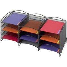 Complement and organize your home or office with this onyx literature organizer. With 12 adjustable shelves and pockets, this organizer will allow you to keep track of all those important documents in one great place while adding style to your room.