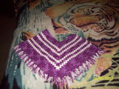 Hand crochetd poncho for a 2 year old