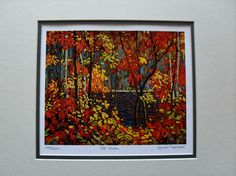 $34.99  TOM Thomson Group OF Seven THE Pool Matted Limited Edition ART Print | eBay
