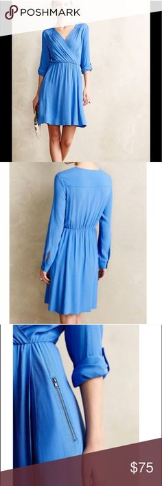 NWT Anthropologie Maeve Lene Crepe Dress Brand new! Beautiful airy fit and flare style dress  Anthropologie Dresses