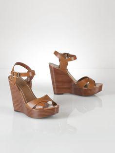 Doreen Leather Wedge - Lauren Sandals - RalphLauren.com