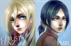 DeviantArt: More Like Shingeki no Kyojin: Ymir and Christa by scottwuming