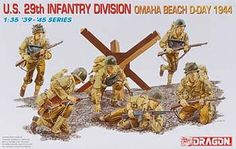 1/35 US 29th Infantry Division Omaha Beach 1944 (dml6211) DML Plastic Model Military Figures