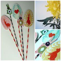 folk art paper Easter decoration