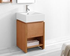 Perfect for any modern bathroom with limited space, the Virtu USA Curtice Single Sink Bathroom Vanity Set - Chestnut has a compact, minimalist.