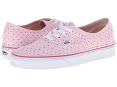 Vans Authentic™ (Chambray Dots) Hot Pink - 6pm.com. cuter than a button