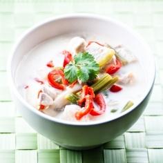 Tom Kha Gai soup (Thai Coconut soup)  #craving
