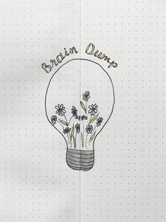 Light bulb brain dump reflection page for bujo bullet journal idea Brain Dump Bullet Journal, Bullet Journal Planner, February Bullet Journal, Bullet Journal Writing, Bullet Journal Notebook, Bullet Journal Ideas Pages, Bullet Journal Spread, Bullet Journal Layout, Bullet Journal Inspiration