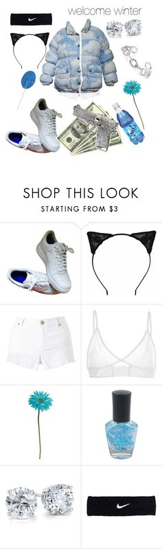 """""""welcome winter"""" by katy1m ❤ liked on Polyvore featuring NIKE, Lipsy, Miss Selfridge, Alexander Wang, Allstate Floral, Forever 21, Blue Nile and Jennifer Fisher"""