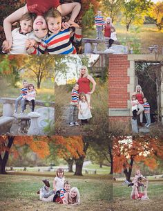 The DeSha Family Fall portraits at the Belvoir Winery in Liberty, MO by Jillian Farnsworth | Single mom family session | Fall Photography