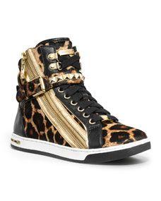 92c3d80d4887 MICHAEL Michael Kors Glam Leopard-Print Hi-Top Snicker Shoes