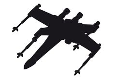x wing sillouette | Wandtattoo Star Wars Clone Wars - X-Wing Silhouette als offizielles ...