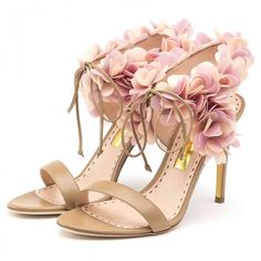 Cassandra 100mm High Heel Ankle Strap Sandals in Clay Calf Pink Lady ($1295) | Rupert Sanderson London.