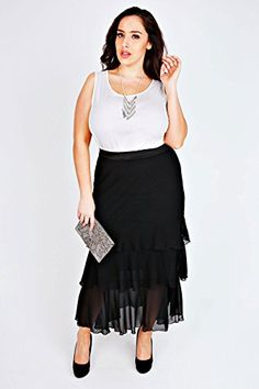 Fashion Bug Plus Size Womens Scarlett & Jo Maxi Rara Skirt www.fashionbug.us #PlusSize #FashionBug #Skirts