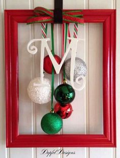 Door Christmas frame