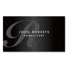 Professional Monogram Elegant Modern Brushed Metal Business Card. Make your own business card with this great design. All you need is to add your info to this template. Click the image to try it out!