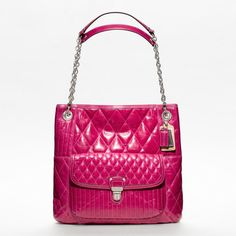 Coach :: Poppy Quilted Leather Slim Tote
