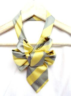 Yellow and grey tie So cute, I love it!