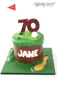 70TH GOLF CAKE by STYLISHLY SWEET - SYDNEY CUSTOM CAKES www.stylishlysweet.com.au