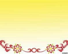 Flores rojas Powerpoint con fondo amarillo y diseño simple para presentaciones