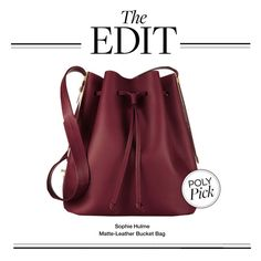 """""""The Edit: Sophie Hulme Bucket Bag"""" by polyvore-editorial ❤ liked on Polyvore featuring Sophie Hulme and theedit"""