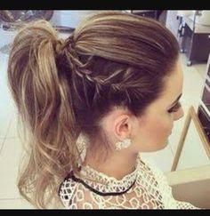 High ponytail braid