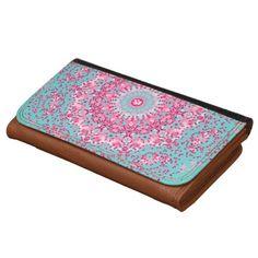 Pretty Pink Delicate Floral Pattern ladies purse/W wallets