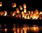 Wedding Idea!: Have each of your guests write a wish/blessing for the bride and groom on their lantern. Then release bunches of lights into the night sky!