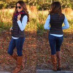 """Puffer vests are a fall staple year after year and this one couldn't be any more perfect! Black in color and a striped quilted pattern with pockets! The…"""