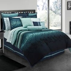 Blue Moon Full-size 10-piece Bed in a Bag with Sheet Set | Overstock.com